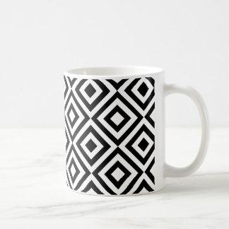 Modern abstract black white geometric pattern coffee mug