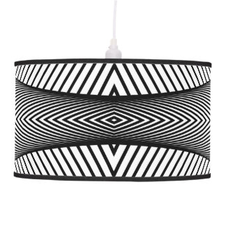 Modern abstract black white pendant lamp