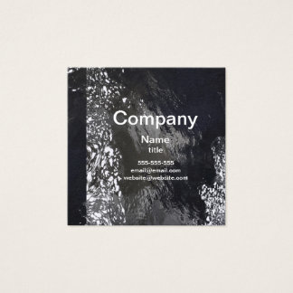 Modern Abstract Black & White Square Business Card