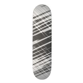 Modern abstract black white stripes pattern skate deck