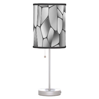 Modern abstract black & white table lamp