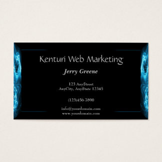 Modern Abstract Blue Hi Tech Business Card