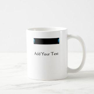 Modern Abstract Blue Hi Tech Basic White Mug