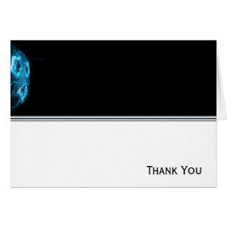 Modern Abstract Blue Hi Tech Note Card