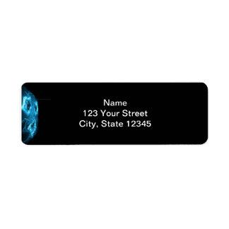 Modern Abstract Blue Hi Tech Return Address Label