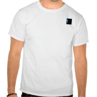 Modern Abstract Blue Hi Tech T-shirt