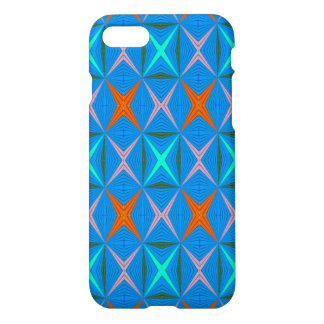 Modern abstract blue pattern iPhone 7 case