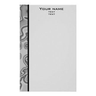 Modern abstract border stationery