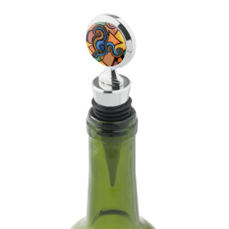 Modern Abstract Bright Colors Wine Stopper
