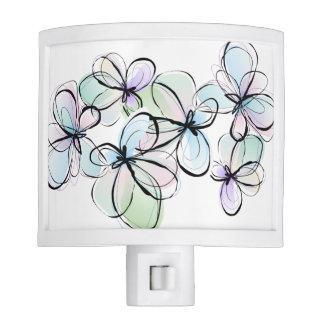 Modern Abstract Butterflies Night Light