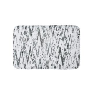 Modern Abstract Chevrons Monochromatic Bathroom Mat