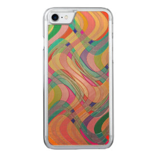 Modern Abstract Colorful Design Stained Glass Look Carved iPhone 8/7 Case