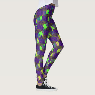 Modern Abstract Colorful Leggings