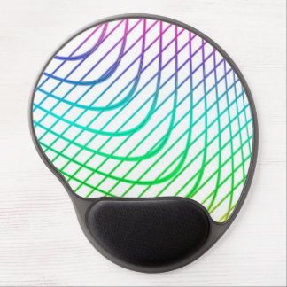 Modern Abstract Colorful Line Art Gel Mouse Pad