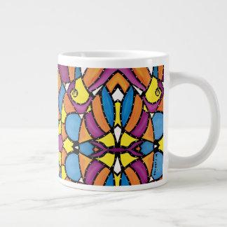 Modern Abstract Colorful Pattern Large Coffee Mug
