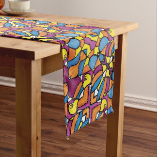 Modern Abstract Colorful Pattern Long Table Runner