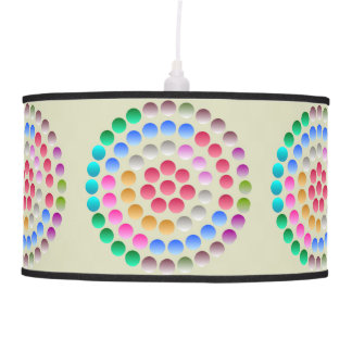 Modern abstract colorful pendant lamp