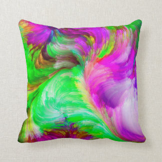 Modern abstract colorful pillow