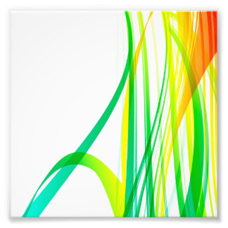 Modern Abstract Colorful Swirls Photo