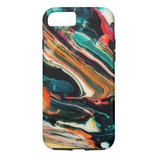 Modern Abstract Colorful Wavy Paint Stripes iPhone 7 Case