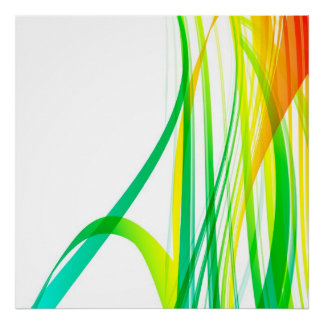 Modern Abstract Colourful Swirls Poster