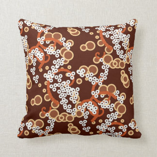 Modern Abstract Confetti Print, Chocolate Brown Throw Pillow