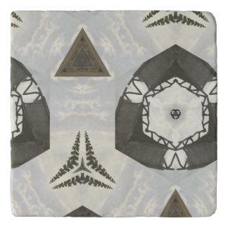 Modern abstract cool pattern trivet
