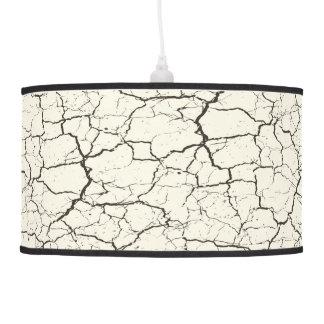 Modern abstract crackle black white pendant lamp