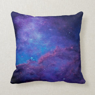 Modern Abstract Deep-Space Blue & Purple Throw Pillow