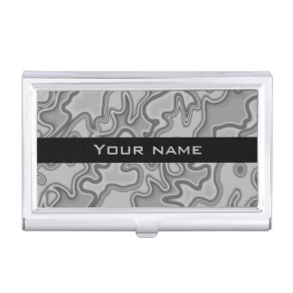 Modern abstract design business card holder