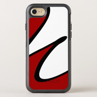 Modern Abstract Design Red And White OtterBox Symmetry iPhone 8/7 Case