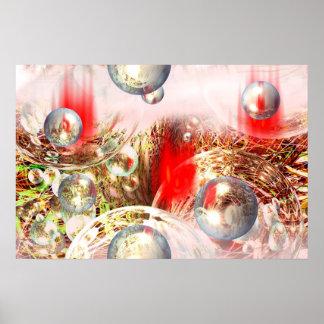Modern Abstract Digital Art Poster Print