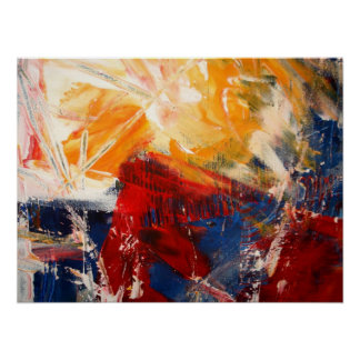 Modern Abstract Expressionist Artwork Poster Print