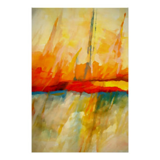 Modern Abstract Expressionist Painting Art Poster
