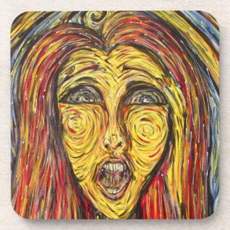 Modern Abstract Face Coaster