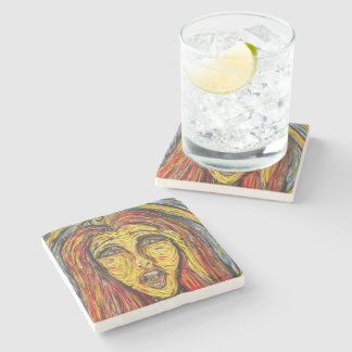 Modern Abstract Face Stone Coaster