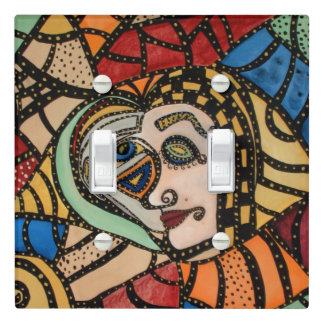 Modern Abstract Faces Light Switch Cover