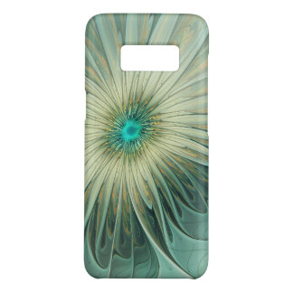 Modern Abstract Fantasy Flower Turquoise Wheat Case-Mate Samsung Galaxy S8 Case