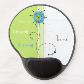 Modern Abstract Floral Design - Gel Mousepad