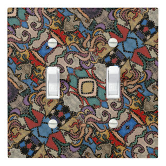 Modern Abstract Floral Pattern Light Switch Cover