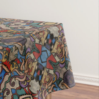 Modern Abstract Floral Pattern Tablecloth