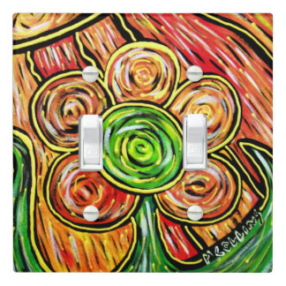 Modern Abstract Flower Light Switch Cover