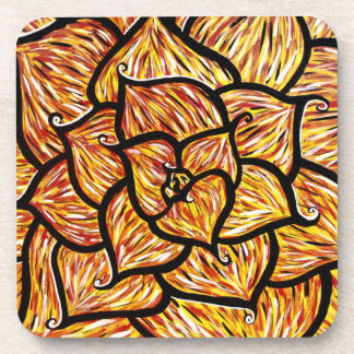 Modern Abstract Flower Petals Coaster