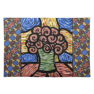 Modern Abstract Flowers Placemat