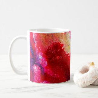 Modern abstract fluid galaxy art coffee mug