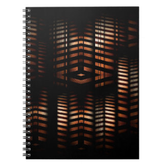 Modern Abstract Gears Spiral Notebook