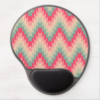 Modern Abstract Geometric Pattern Gel Mouse Pad