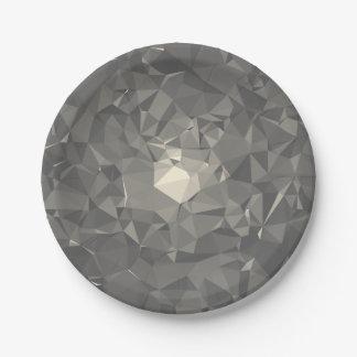 Modern Abstract Geometric Pattern - Jewel City Paper Plate