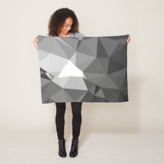 Modern Abstract Geometric Pattern - Knight Gable Fleece Blanket
