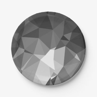 Modern Abstract Geometric Pattern - Knight Gable Paper Plate